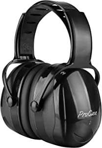 ProCase Noise Reduction Safety Ear Muffs Headset SNR 36dB Earmuffs for Ear Hearing Protection, Noise Cancelling Ear Defenders Muff for Adults Kids Shooter Shooting Range Construction -Black