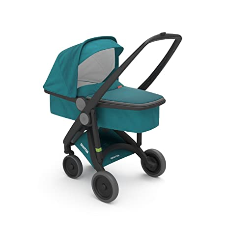 Cochecito UPP Carrycot Chassis negro Kit Nacelle Petróleo greentom