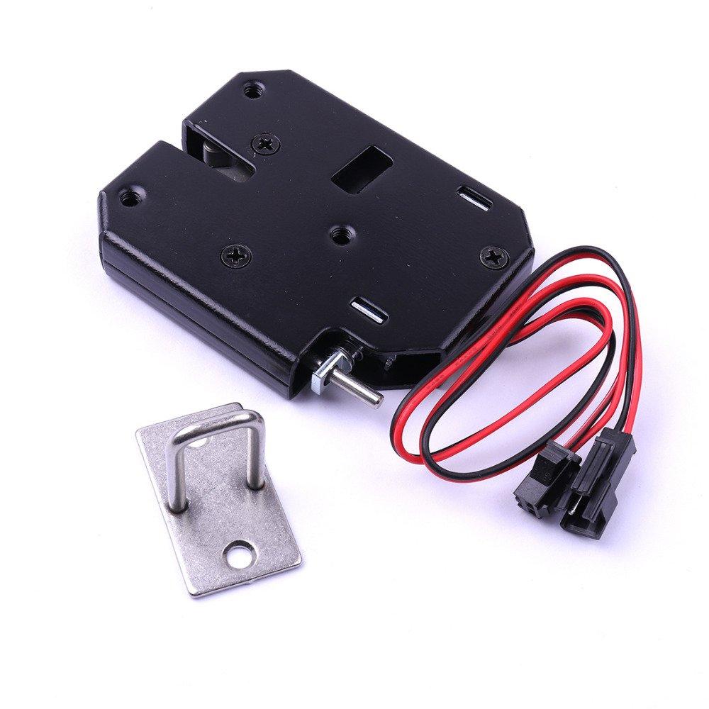 black 12V 2A Electronic Express Cabinet Lock 73x59.5x13mm
