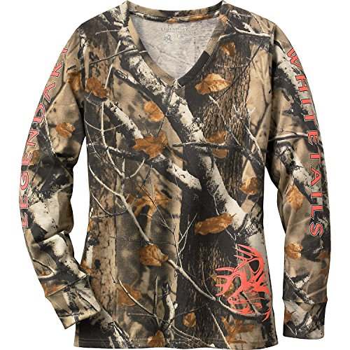Legendary Whitetails Ladies Non-Typical Long Sleeve Tee Big Game Field Camo X-Large (Camo Field Shirt)