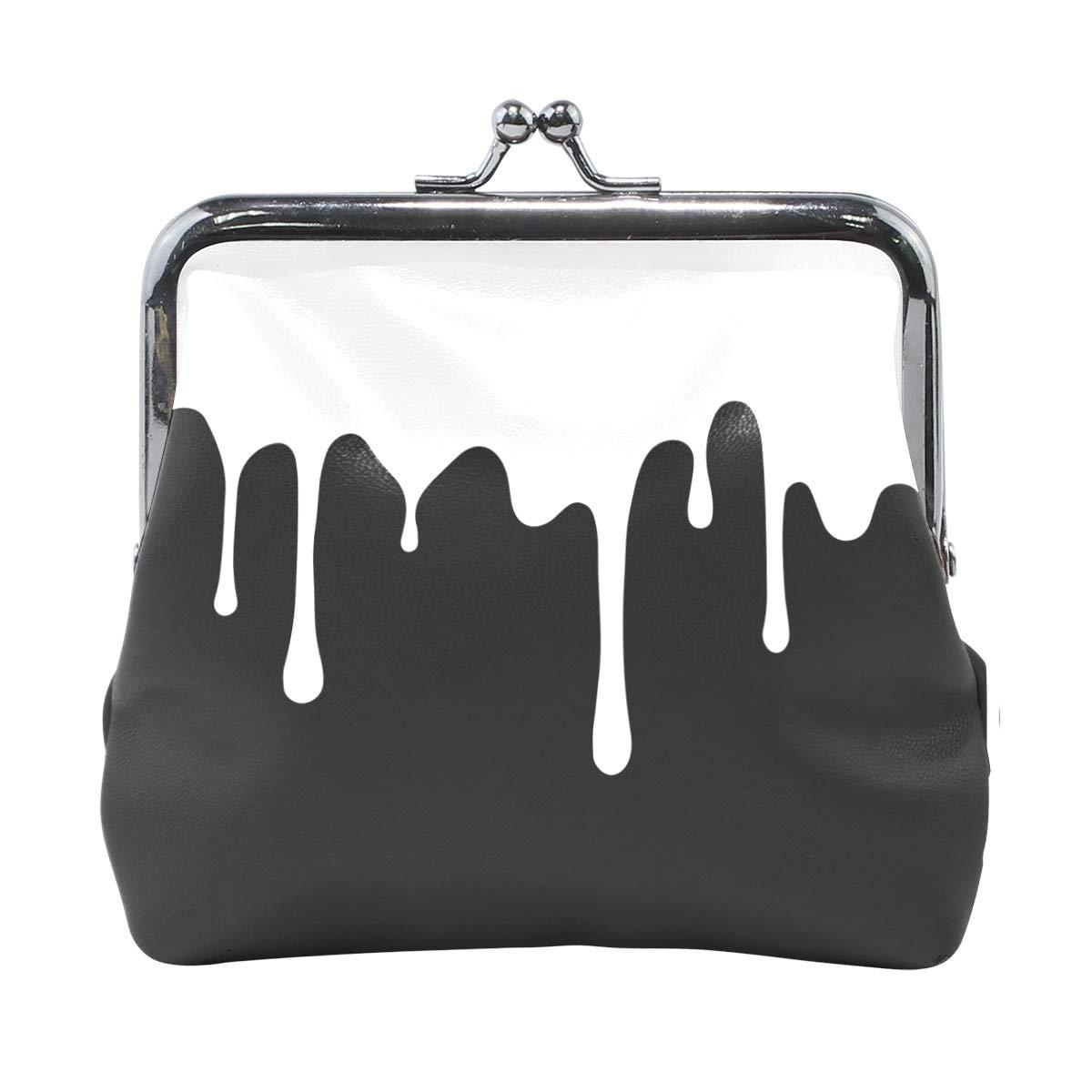 Women Wallet Purse Simple Color Art Clutch Bag Leather