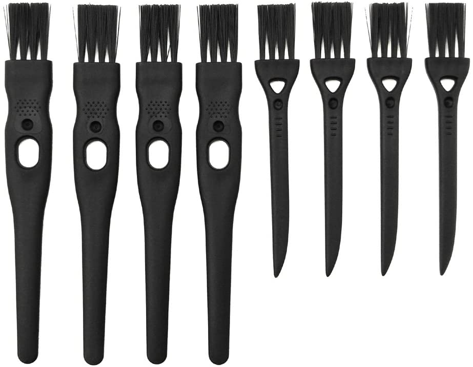 GFDesign Electric Shaver Cleaning Brushes Razor Cleaner Set Nylon Bristles PP Handle - Set of 8 (Black)