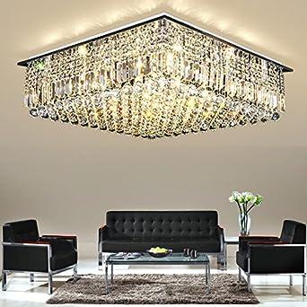 zhudj moderne vereinfachte led deckenleuchte rechteckige wohnzimmer lampe atmosphare luxuriose kristall lampe schlafzimmer lampen und laternen