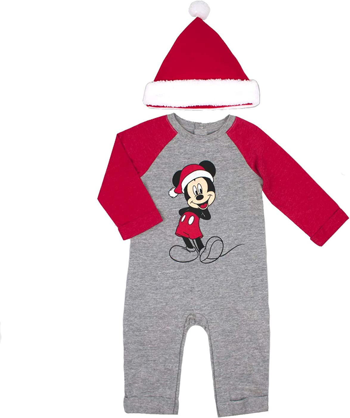 Disney Baby Boys Mickey Mouse Footies and Hat Set