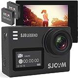 アクションカメラ 4K 手振れ 防止 追加バッテリー 日本語ガイド 2画面 タッチスクリーン WIFI ウェアラブルカメラ・アクションカム スポーツカメラ 30m防水 170度広角レンズ 液晶画面 HD動画対応 (SJ6, ブラック)