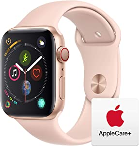 AppleWatch Series4 (GPS+Cellular, 44mm) - Gold Aluminum Case with Pink Sand Sport Band with AppleCare+ Bundle