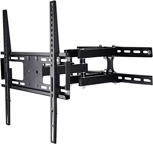 CNYF TS006-M TV Wall Mount Fit for Most 23 -55 TVs Dual Articulating Arm Full Motion Tilt Swivel Bracket 14 Extension Arm,LED,LCD,OLED Plasma Flat Screen TV,Curved TV,Up to VESA 400mm