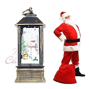 LEDMOMO Christmas Table Lamp Decoration Lantern Candlestick Candle Holder Hanging Ornament (Bronzo)