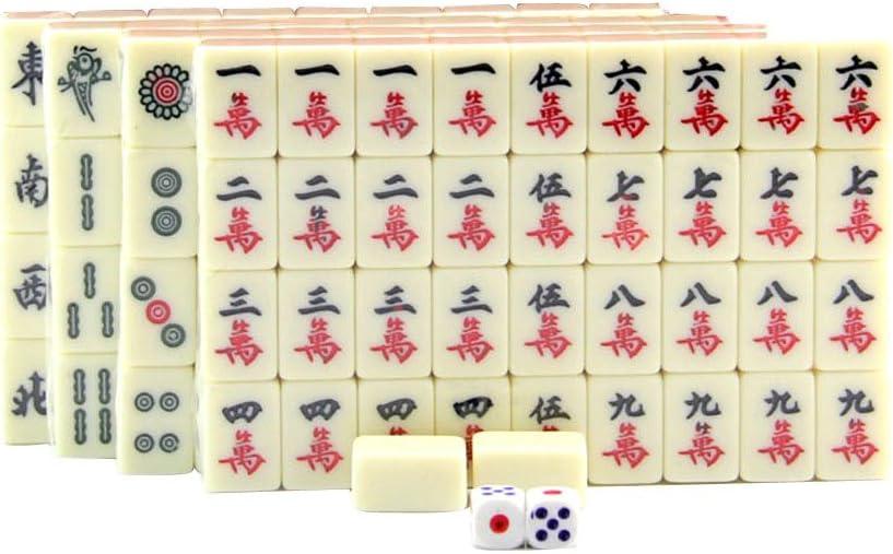 Sharplace Juego de Mini Mahjong Chino para Viaje Juguete Tradicional Regalo para Amigos: Amazon.es: Juguetes y juegos