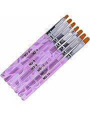 7 pinceles de manicura para aplicar gel UV o decorar uñas postizas acrílicas