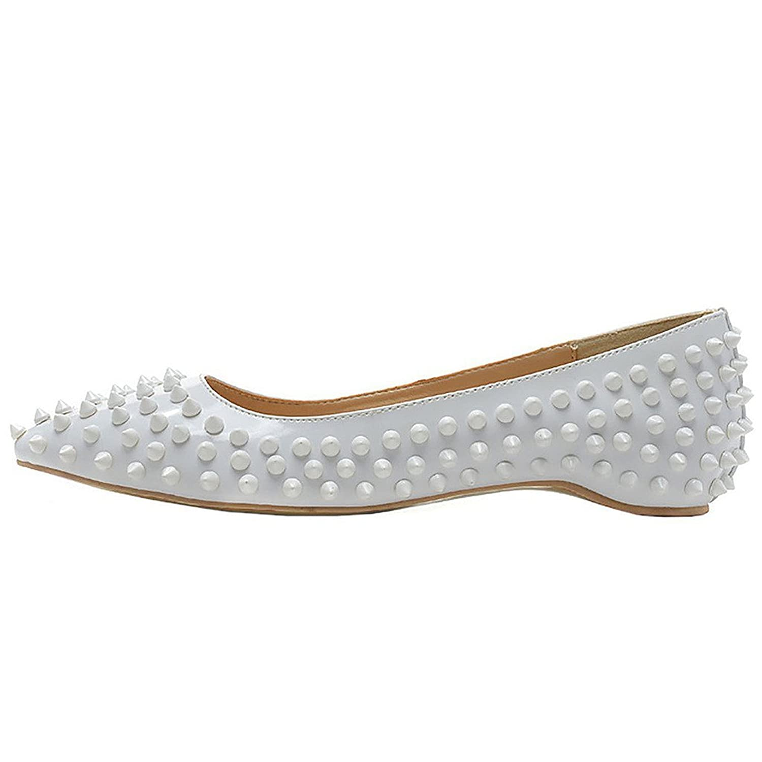 Mermaid Women's Shoes Pointed Toe Spiked Rivets Comfortable Flats B071QYJSQK US10 Feet length 10.3