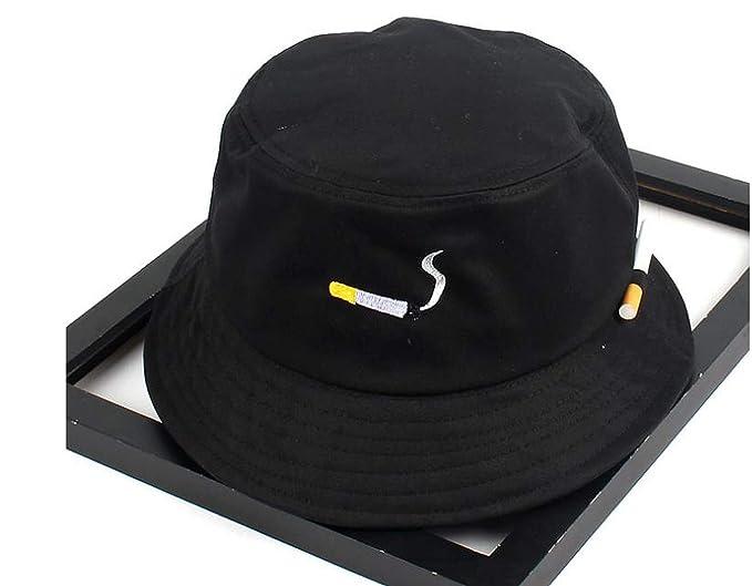 edecddea811 Surprisedresshatglasses-Sports hat Orange Bucket Hats Harajuku Snapback Caps  Cigarette Embroidery Hip hop Bucket Caps