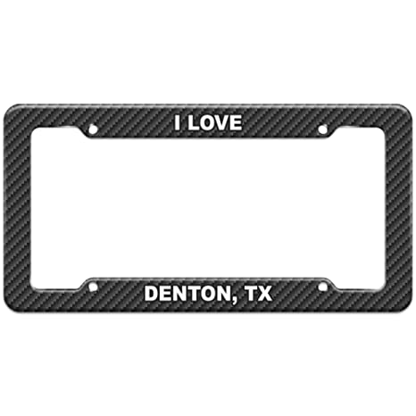 Carbon Fiber Pattern License Plate Frame