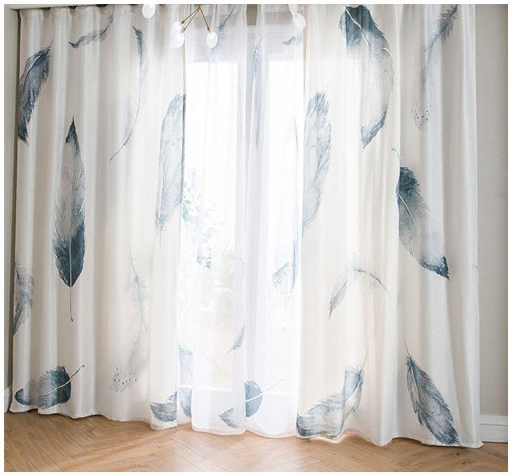SCOFEEL HOME 1er Feder Gardinen Vorh/änge Transparent Leinen Optik Vorhang Voile Fensterschal Dekoschal f/ür Wohnzimmer Kinderzimmer Schlafzimmer