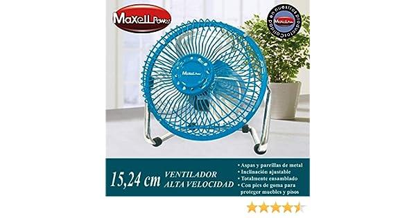 Maxell Power CE Ventilador DE SOBREMESA Mini ASPAS Parrilla Metal ...