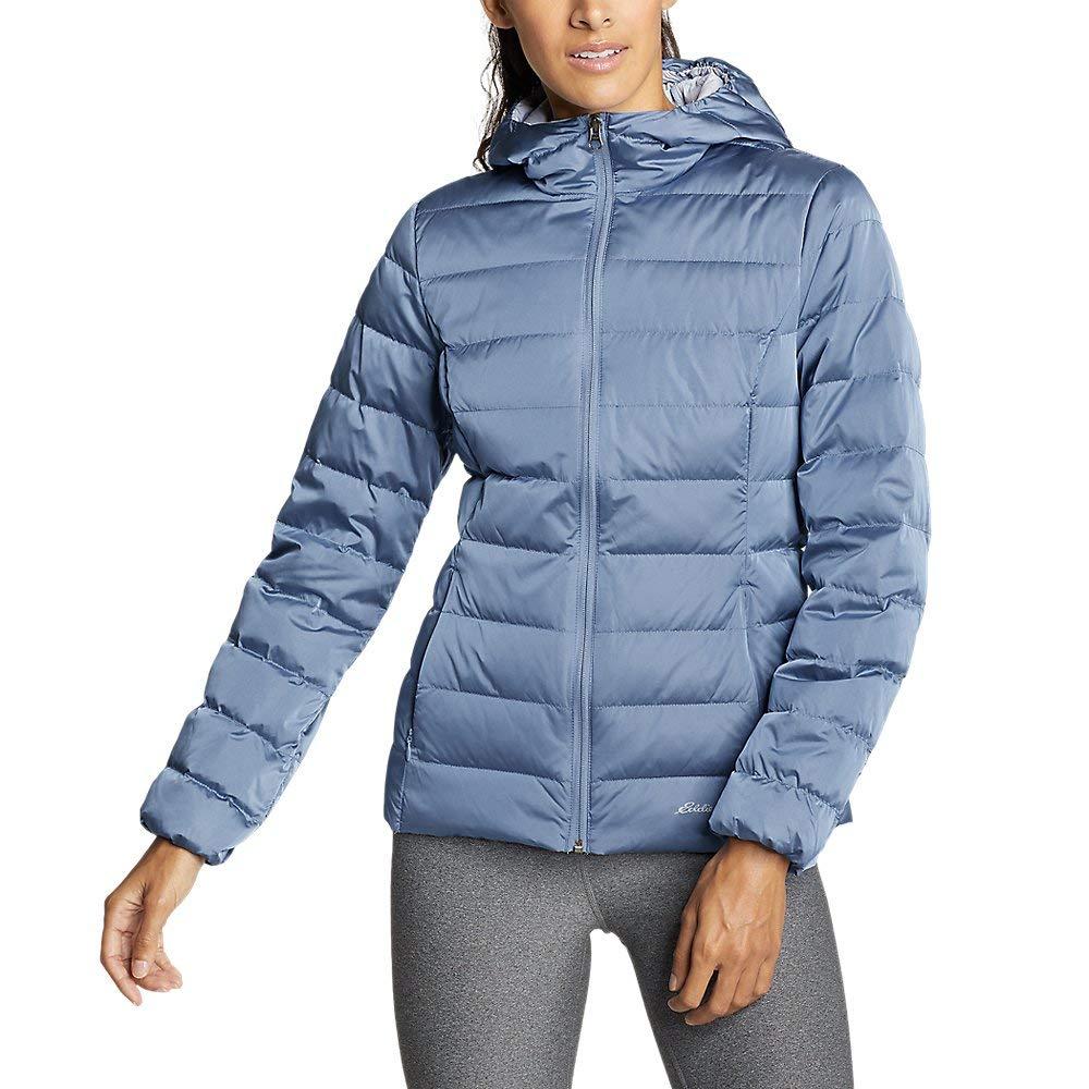 Eddie Bauer Women's CirrusLite Down Hooded Jacket, Dusty Blue Petite XL by Eddie Bauer