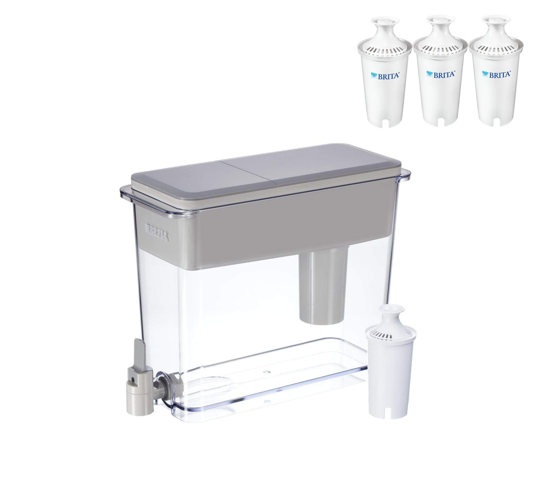 Brita Extra Large 18 Cup Filtered Water Dispenser (UltraMax Dispenser with 4 Filters)