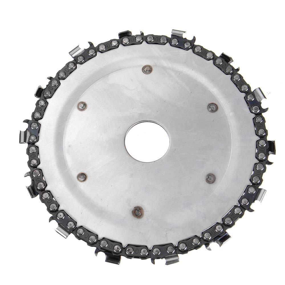 RanDal Disque de sculpture sur bois de 5 pouces am/élior/é 14 cha/înes de disque de broyeur de 7//8 pouces pour meuleuse dangle