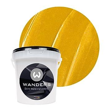 Wanders24 Metall Optik 1 Liter Gold Wandfarbe Zum Spachteln Im