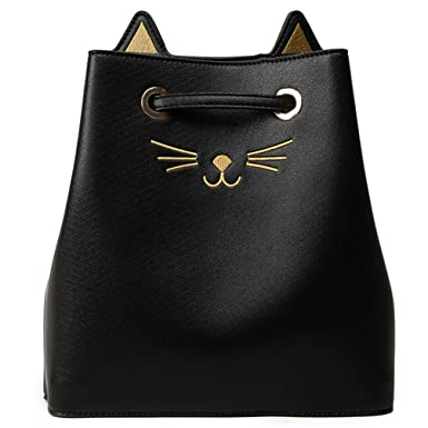 Girl Shoulder Cat Print Drawstring Travel Large Women Crossbody Bag Bolsa Feminina Hot Sac A Mian