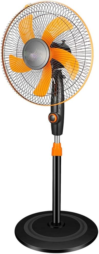 Jiamuxiangsi- Ventilador de Piso - Ventilador eléctrico Hogar Ventilador Industrial Restaurante Vertical Que sacude la Cabeza Dormitorio Mute / 220v-50w -Ventiladores de Techo (Color : Naranja)