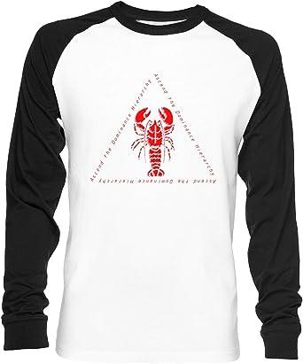 Ascend The Dominance Hierarchy Jordan Peterson Lobster Unisex Camiseta De Béisbol Manga Larga Hombre Mujer Blanca Negra: Amazon.es: Ropa y accesorios