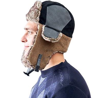 AHAHA Gorros de Aviador Hombre Sombrero de Caza de Invierno Ruso  Amazon.es   Ropa y accesorios 25e815cc35b