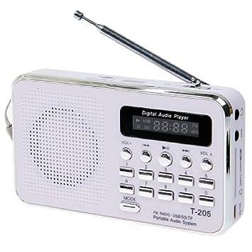 Amazon.com: Color Blanco Tarjeta Portable Mini Wired Hifi ...
