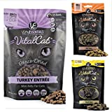 Vital Essentials Freeze Dried Raw Cat Food, Cat Treats Bundle, includes: 1-12 oz. Bag of Turkey Mini Nibs, 1-1.1 oz. Bag Ahi Tuna, 1 - .9 oz. Bag Duck Liver. 1 Entree, 2 Treats. Fast Delivery!!!