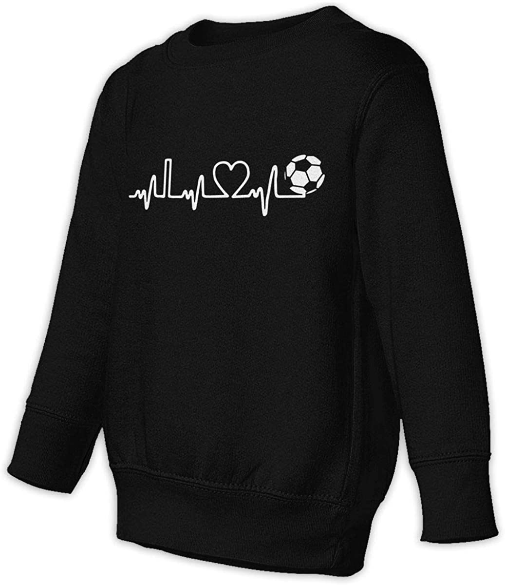 I Love Soccer Boys Girls Pullover Sweaters Crewneck Sweatshirts Clothes for 2-6 Years Old Children