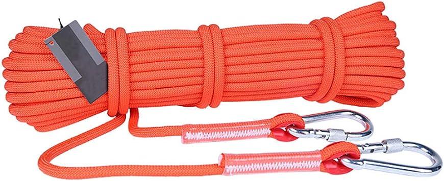 Cuerda para Escalada En Roca, 6 Mm, 8 Mm, 9.5 Mm, 12 Mm De Diámetro para Caminatas Al Aire Libre Cuerda De Seguridad 10m-100m
