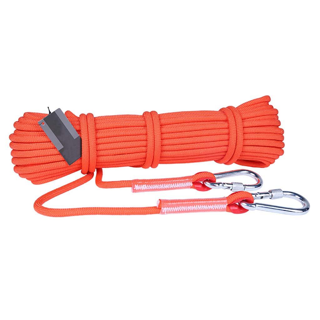 Orange MODKOY Corde d'escalade, 6mm, 8mm, 9.5mm, 12mm Diamètre Randonnée Extérieure Corde de sécurité Haute résistance Corde 10m-100m 8mm - 15m