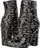 KENDALL + KYLIE Women's Haedyn Block Heel Ankle Boots, Black Multi, 8.5 B(M) US