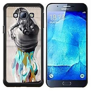 LECELL--Funda protectora / Cubierta / Piel For Samsung Galaxy A8 A8000 -- desvestirse --