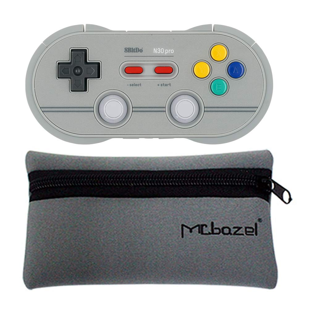 Mcbazel 8Bitdo N30 Pro 2 Wireless Gamepad With Mcbazel Storage Bag,Bluetooth Controller For Windows//Android//macOS//Steam//Switch C Edition
