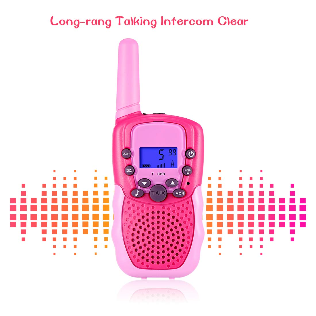 SnowCinda Toys for 3-12 Year Old Girls,Walkie Talkies for Kids with 22 Channels 2 Way Radio 3 Miles Long Range Toy for Outside Adventures, Best Gifts for 4-8 Year Old Boys and Girls by SnowCinda (Image #4)