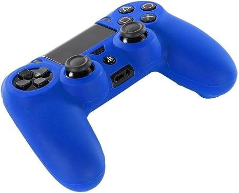 DOTBUY PS4 Controller Funda Siliconas Protector Protectora Mando de PlayStation 4 PS4 Slim PS4 Pro Game Cubierta de de 1 Colores con 1 Pares de Agarres Pulgar (Azul): Amazon.es: Videojuegos