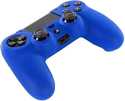 DOTBUY PS4 Controller Funda Siliconas Protector Protectora Mando de PlayStation 4 PS4 Slim PS4 Pro Game Cubierta de de 1 Colores con 1 Pares de Agarres Pulgar (Azul): Amazon.es: Electrónica