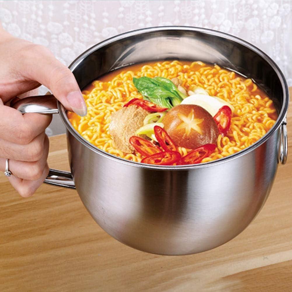 Taz/ón de fideos para microondas acero inoxidable taz/ón de desayuno para microondas 1500 ml taz/ón de fideos instant/áneos ensaladera recipiente de almacenamiento de alimentos