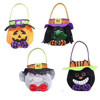 Bolsas de regalo XiaoHannaw para Halloween, 4 unidades ...
