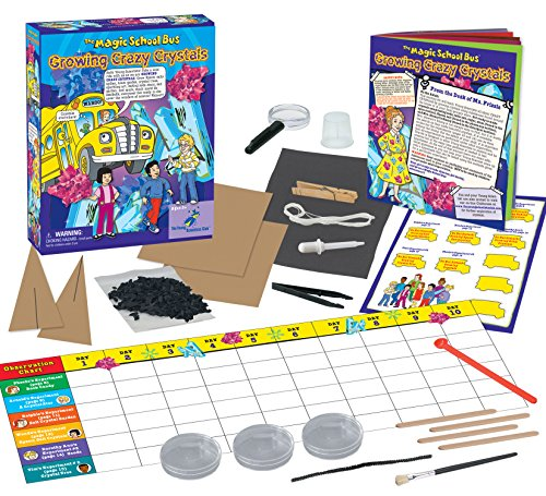 The Magic School Bus Growing Crazy Crystals Science Kit (Bus Microscope Magic)