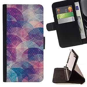 Momo Phone Case / Flip Funda de Cuero Case Cover - Resumen forma Modelo en colores pastel - LG G4