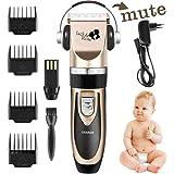 PROMOTION Jack & Rose Tondeuse Cheveux rechargeable et professionnelle sans fil avec 7 Accessoires pour Enfant Adulte Famille Salon de coiffure 3 Couleurs Or