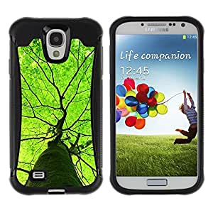 "Pulsar iFace Series Tpu silicona Carcasa Funda Case para Samsung Galaxy S4 IV I9500 , Green Tree verano Naturaleza Primavera"""