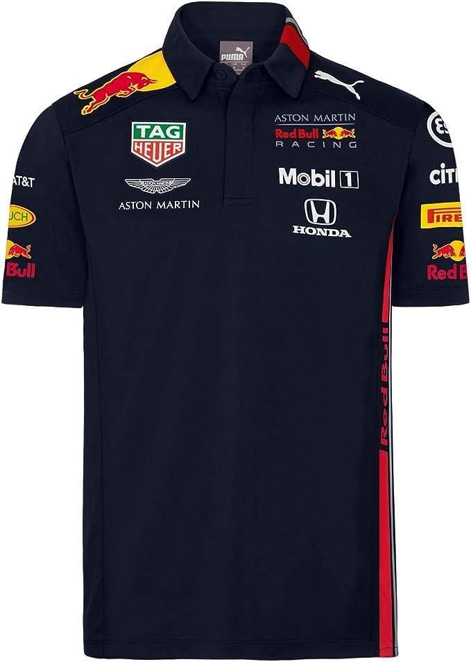 Red Bull Racing Official Teamline Camisa Polo, Azul Niños Camiseta ...