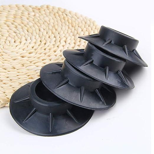 SUNERLORY Almohadillas para pies 4 Piezas Goma Negra Alfombrilla ...