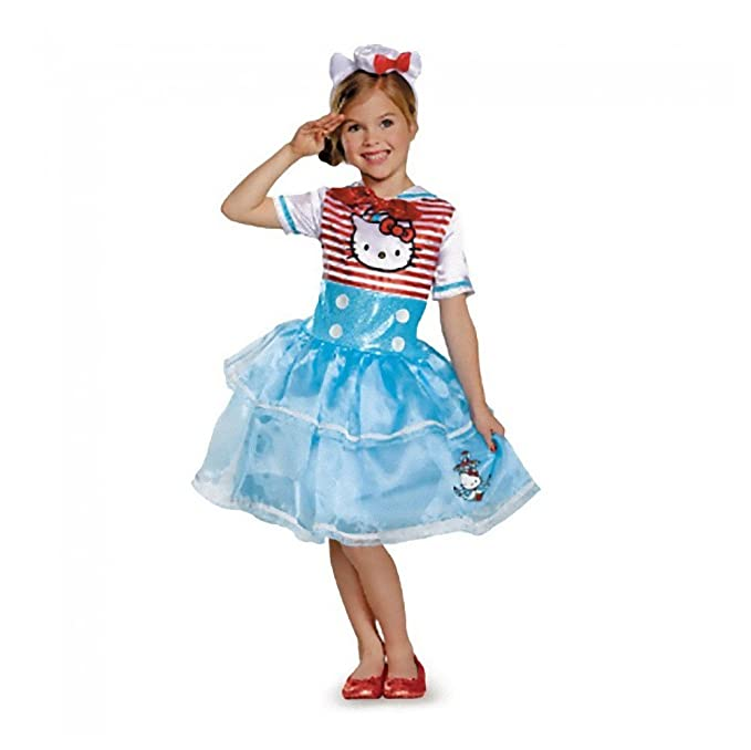 Disguise Girls Hello Kitty Sailor Costume Hat u0026 Gloves ...  sc 1 st  Amazon.com & Amazon.com: Disguise Girls Hello Kitty Sailor Costume Hat u0026 Gloves ...