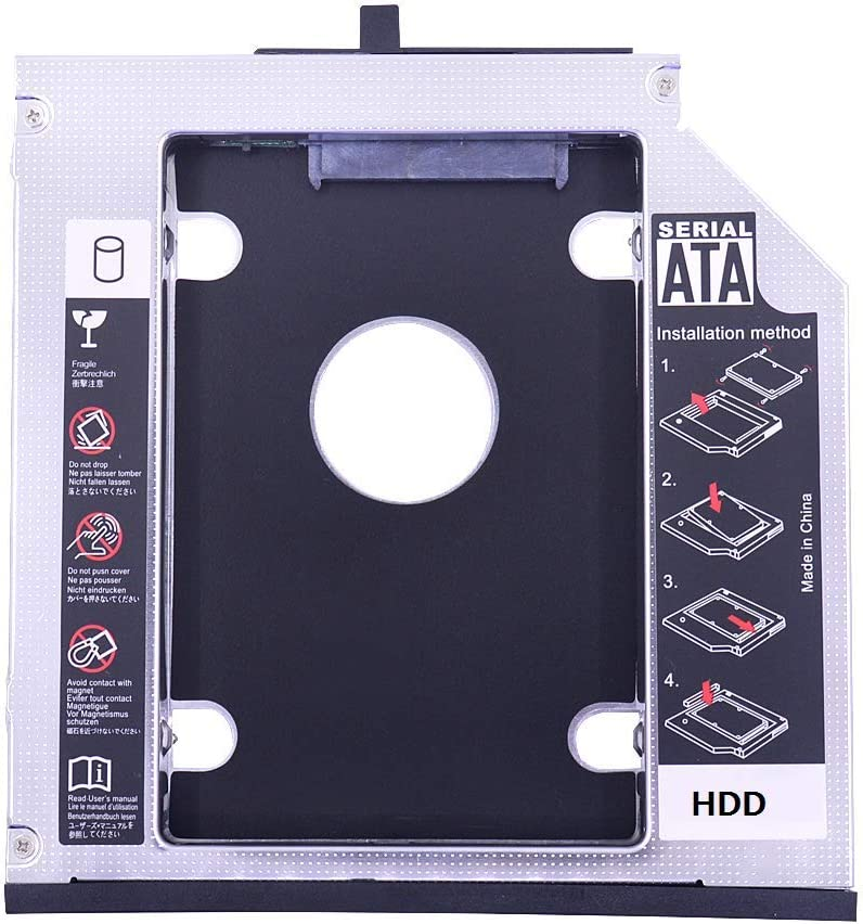Deyoung 2nd HDD SSD Hard Drive Caddy Adapter for Lenovo Thinkpad R400 T420i T430i T510i T520i T530i R500 W700 W700ds W701 W701ds