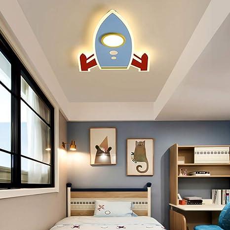 MTDSHD Lámpara de Techo Moderna LED Cohete Diseño de Arte ...