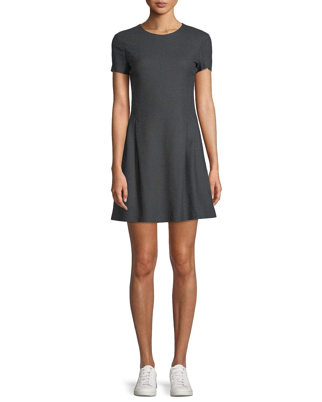 55e863ac961 Amazon.com  Theory Women s New Pure Flannel Crewneck Corset Tee Dress